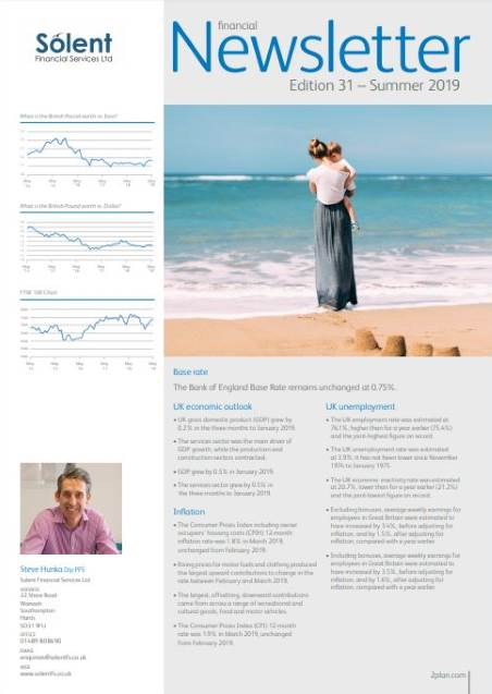 IFA Financial Newsletter Edition 31 Summer 2019 Solent Financial Services IFA